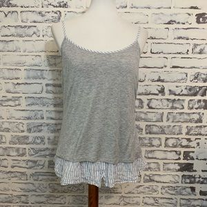 Drew by Anthropologie Striped Casual Tank Top
